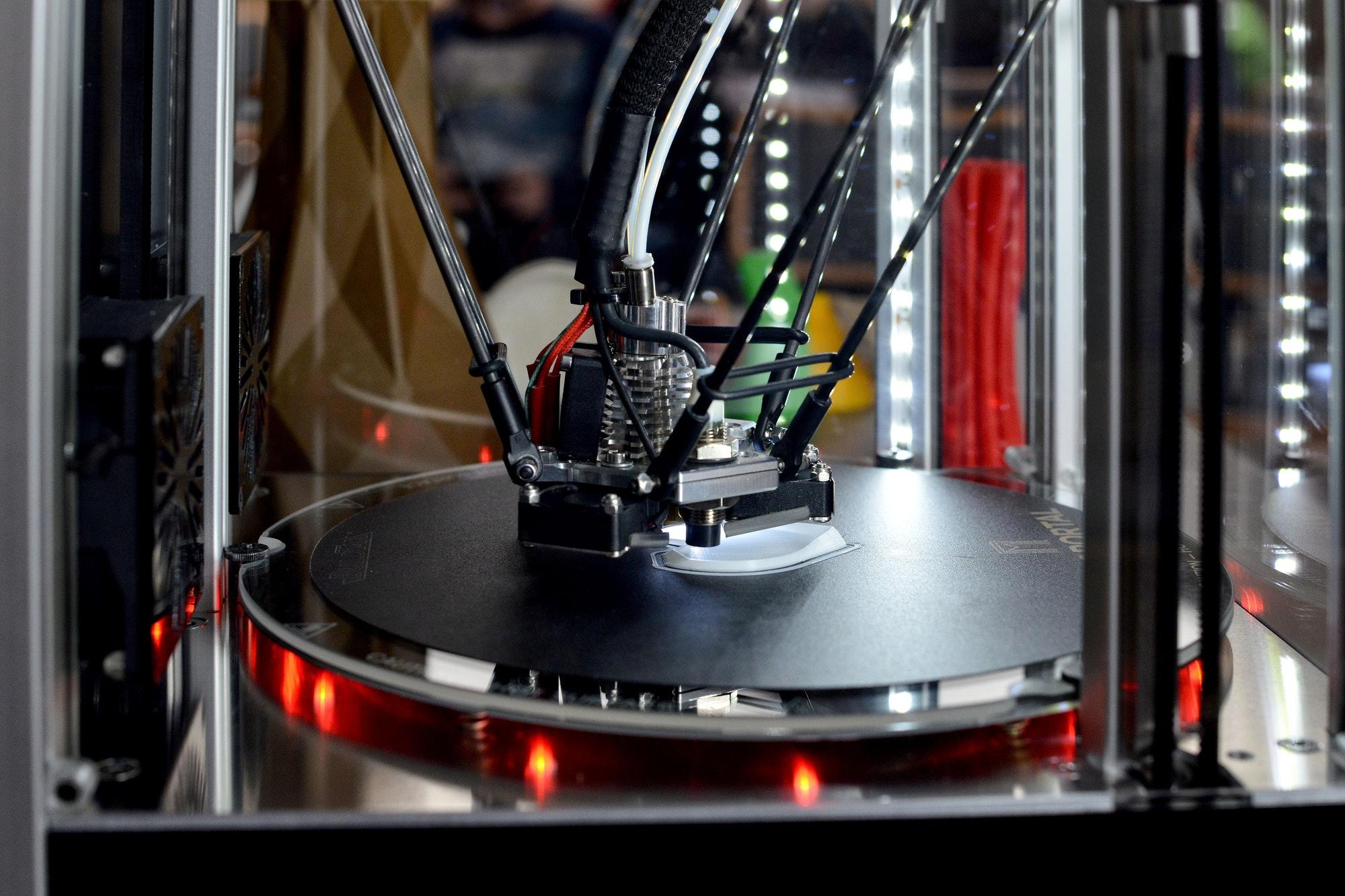 3d printer printing. New printing technology. ❤️ nominated 💔